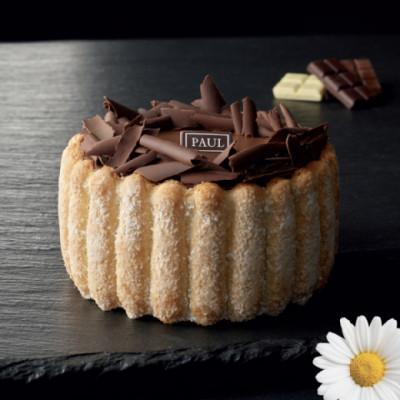 La charlotte vanille/chocolat