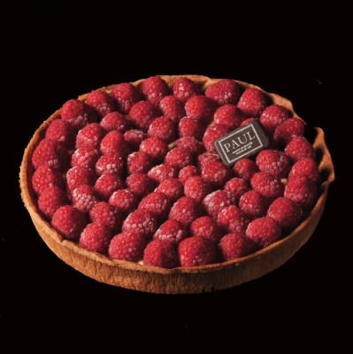 La grande tarte aux framboises (8/10 personnes)